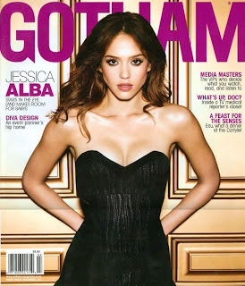 Jessica Alba Sexy In Black In Gotham Pictures
