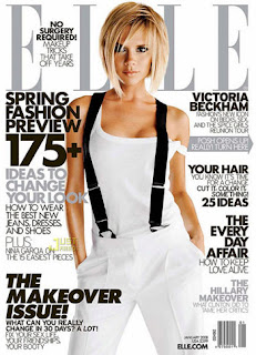 Victoria Beckham covers Elle magazine January 2008<br />