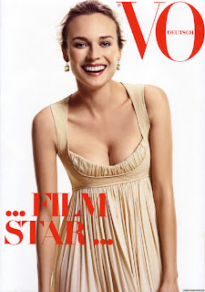 Diane Kruger - nice cleavage shots in Vogue Magazine, German issue pictures