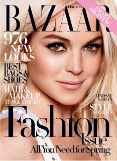 Lindsay Lohan for Harpers Bazaar magazine