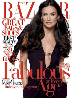 Demi Moore In The April Issue of Harper's Bazaar Pictures