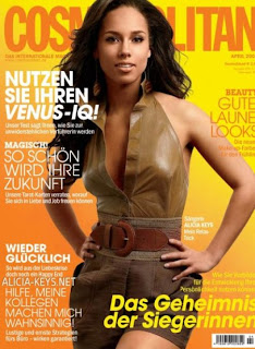 Alicia Keys On Cover of German Cosmoplitan Magazine Pictures