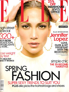 Jennifer Lopez on the cover of ELLE Uk - May