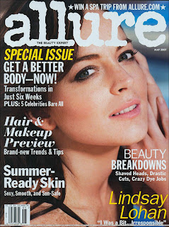 Lindsay Lohan does Allure Magazine