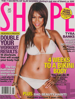 Tyra is on the cover of June 2007's Shape magazine