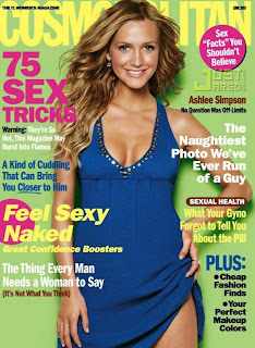 Ashlee Simpson on Cosmopolitan Magazine Cover