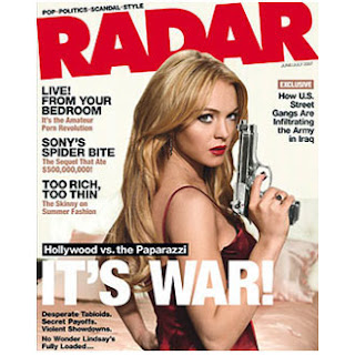 Lindsay Lohan on the cover of the June issue of Radar