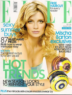 Mischa Barton on the cover and in a great spread for Elle UK for August 2007 pictures