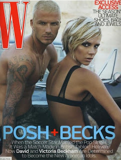 David Beckham And Victoria Beckham in W Magazine pictures