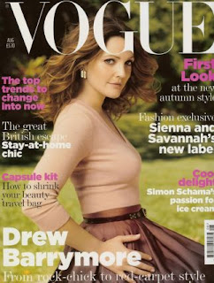 Drew Barrymore Does Vogue Magazine pictures