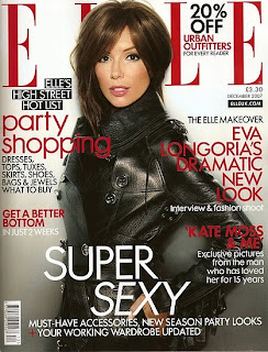 Eva Longoria in Elle UK, December Issue