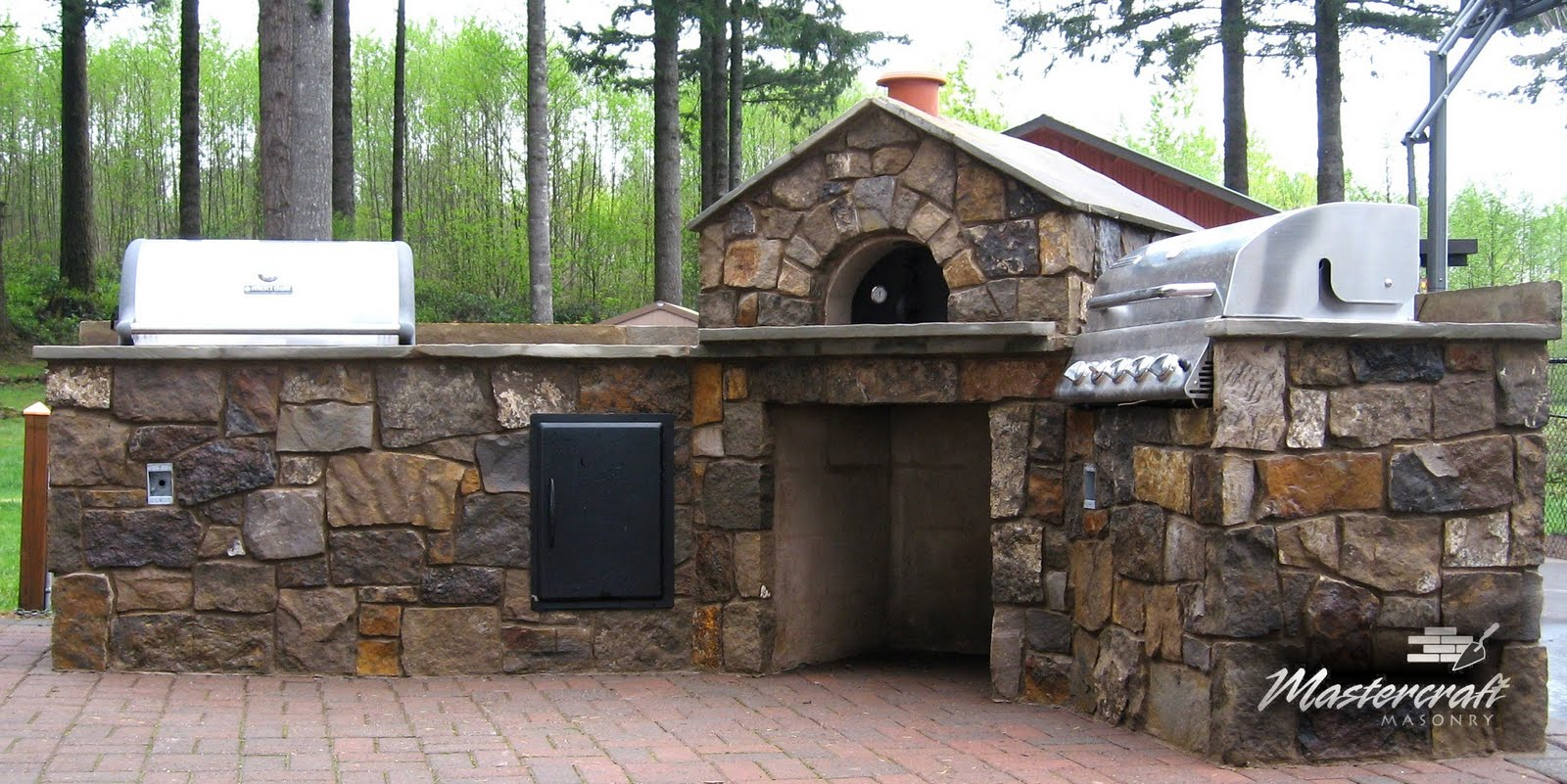 Outdoor Kitchen Oven Pull Out Trash Can Mastercraft Masonry Professional Since 1974
