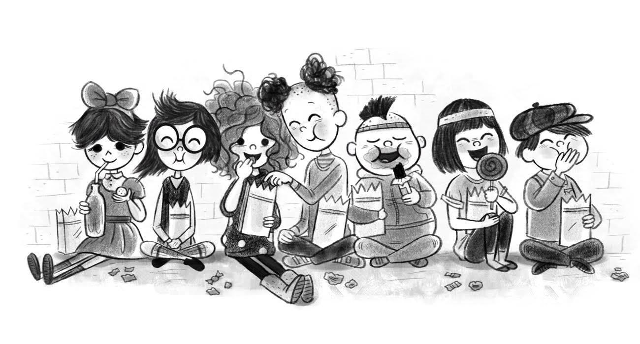 Ruby And Her Friends Eating Candy Stef Choi
