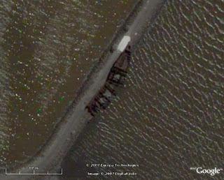 Naufragios y barcos hundidos en google maps