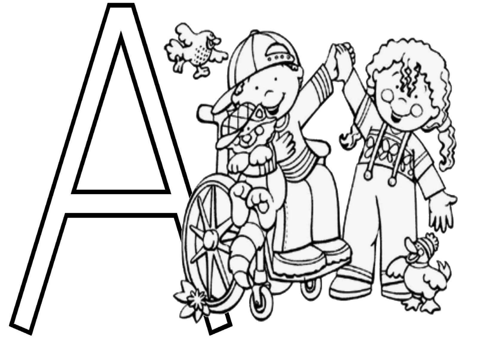 imagens para colorir inclusao cadeirante