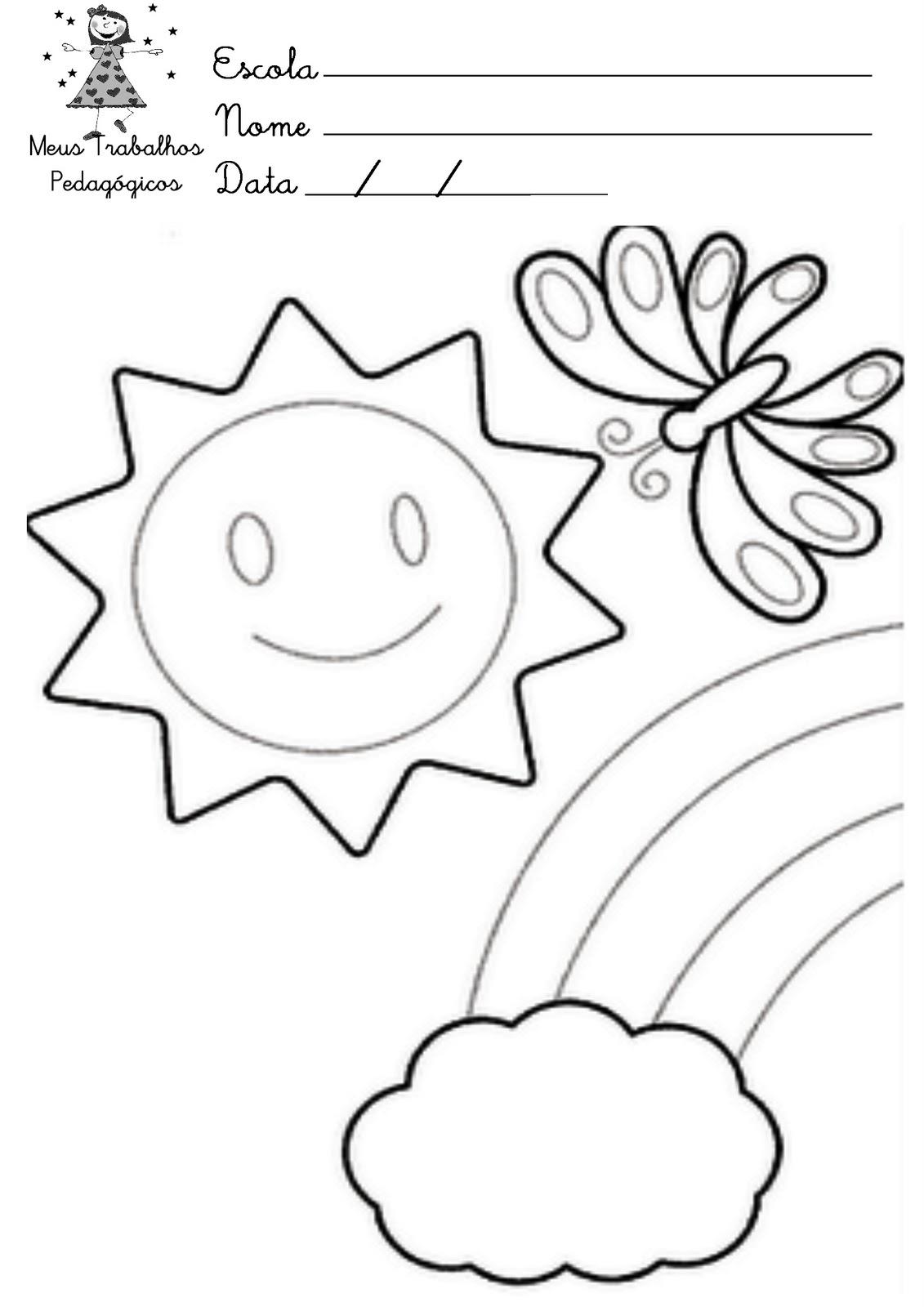 Desenhos Para Colorir Sobre A Primavera Mundinho Da Criança