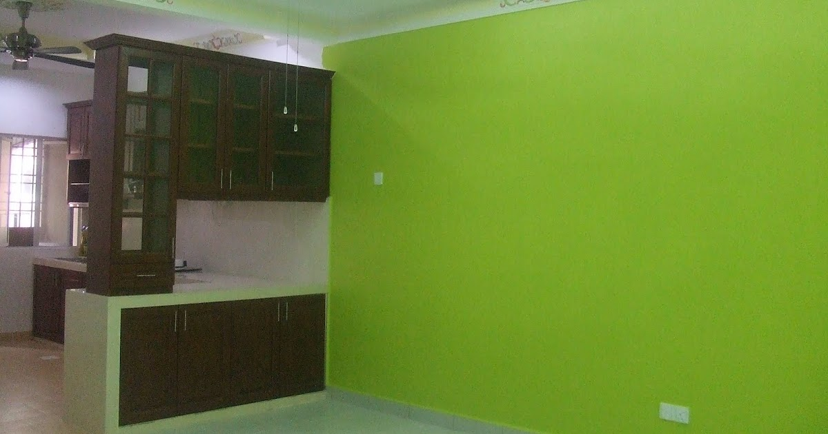 Cat Rumah Warna Hijau Epal - Omong x
