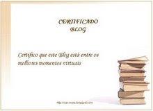 Certificado «Melhores Momentos Virtuais» (muito obrigado!)