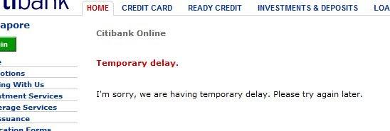 citibank app temporary delays