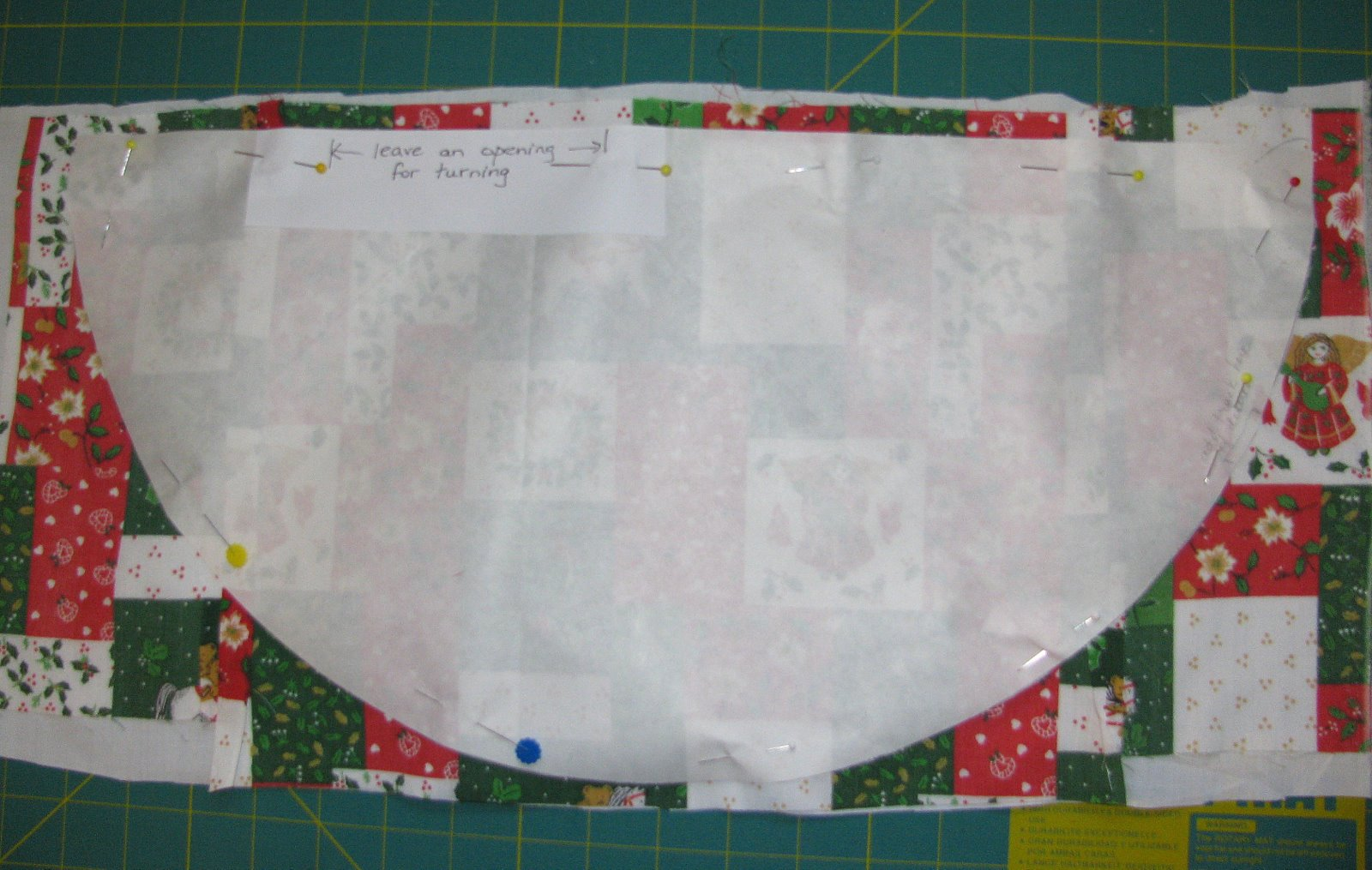 Christmas Tree Napkin Pattern.Louisa Quilts Instructions For Christmas Tree Table Napkin