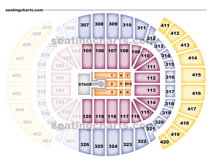 American Airlines Arena Seating Chart Concert Apple