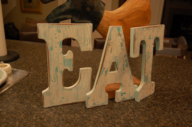 home decorating EAT letters tutorial