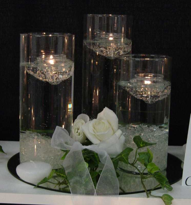 Floating Candles Centerpiece: DECORATION & ART: Decorated Candles