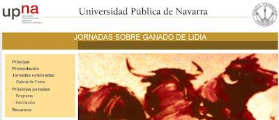 Encabezado de la página web de las Jornadas