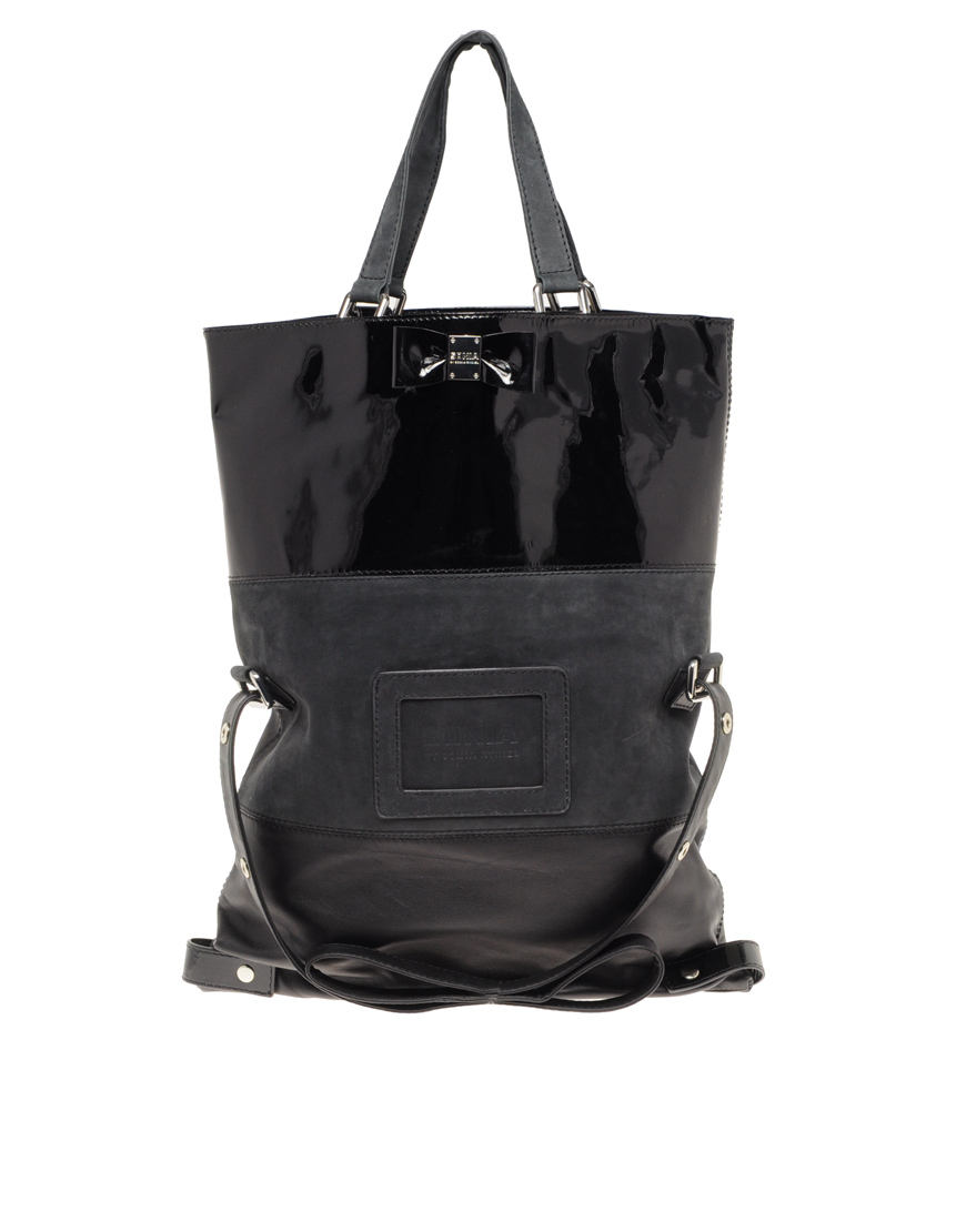 Sonia By Rykiel Bow Fold Over Large Tote Bag
