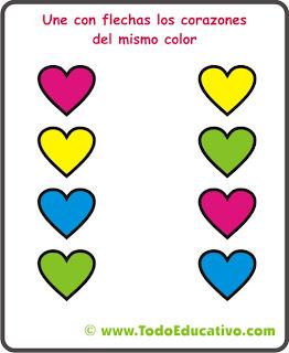 Dibujo Corazones Colores
