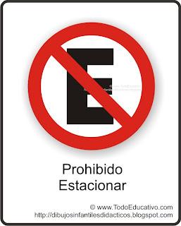 L  Mina Did  Ctica De Educaci  N Vial   Cartel Prohibido Estacionar