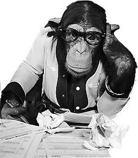 Giornalista-scimmia