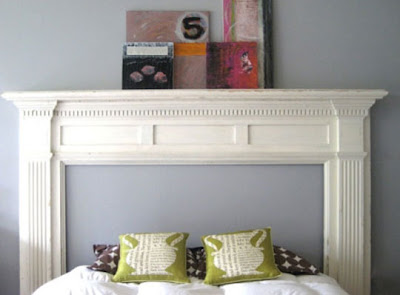 Little Lovables  Mantel DIY Headboard Apartment Therapy
