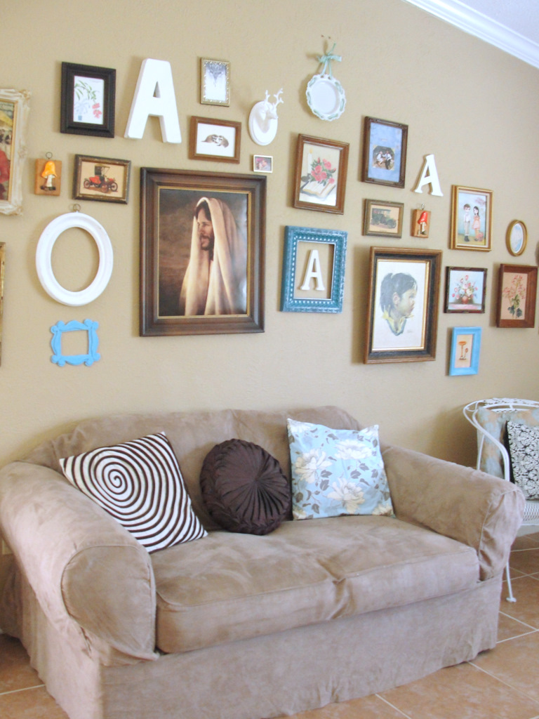 Living Room Gallery Wall: Little Lovables: Homefront: Living Room Picture Gallery Wall