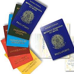 Vistos, passaportes, etc