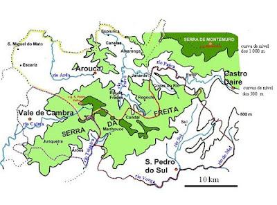 mapa serra da freita Serra da Freita: Localização mapa serra da freita