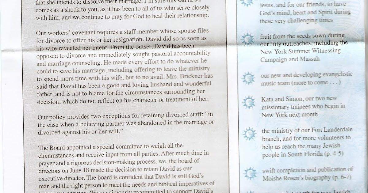 Ex-Jews For Jesus: Brickner Marriage