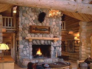 Fish Creek Inn Fireplace