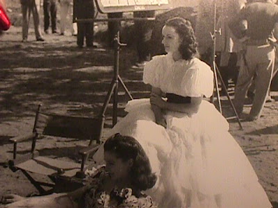 Leigh y Miller en un descanso del rodaje