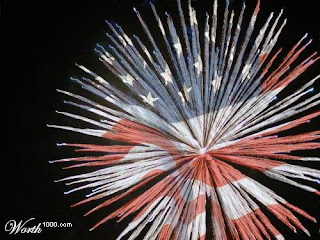 American Flag Firework by Boredstr8 via Worth 1000.com