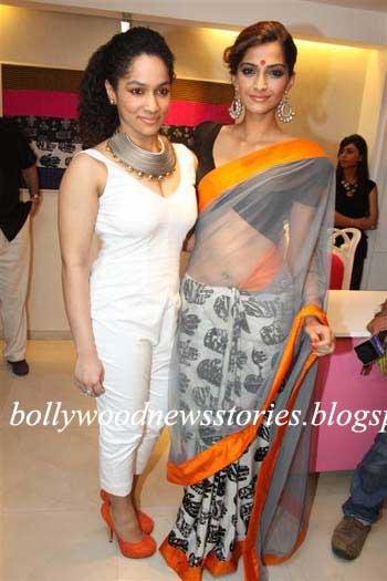 Masaba At Amazon India Fashion Week Spring Summer 2017: Latest News: Sonam Kapoor Sensuous In A Saree At The