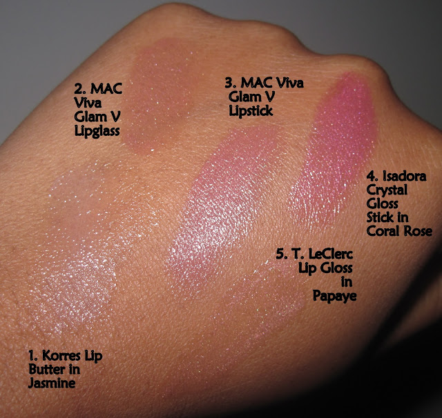 Loving Pink Lip Products From Korres, MAC, Isadora & T. LeClerc