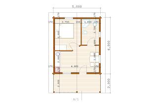 Progetti di case in legno casetta 30 mq terrazza for Casa moderna 60 mq