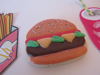 Galletas decoradas hamburguesa
