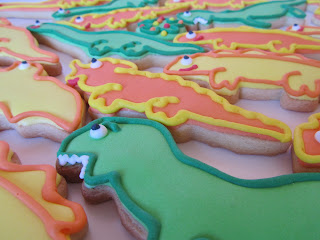 Galletas decoradas dinosaurios