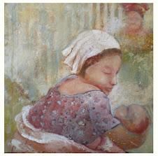 Femme et son enfant (50x50)