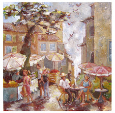 Marché provençal (90x90) - vendu