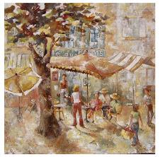 Sur la terrasse d'un café ....  (100x100)  -  1 400 €