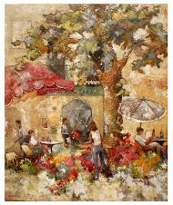 La petite marchande de fleur (100x120) - vendu