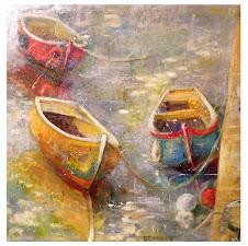 Les 3 barques (60x60)
